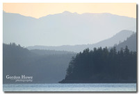 Looking east from Heriot Bay, Quadra Island.